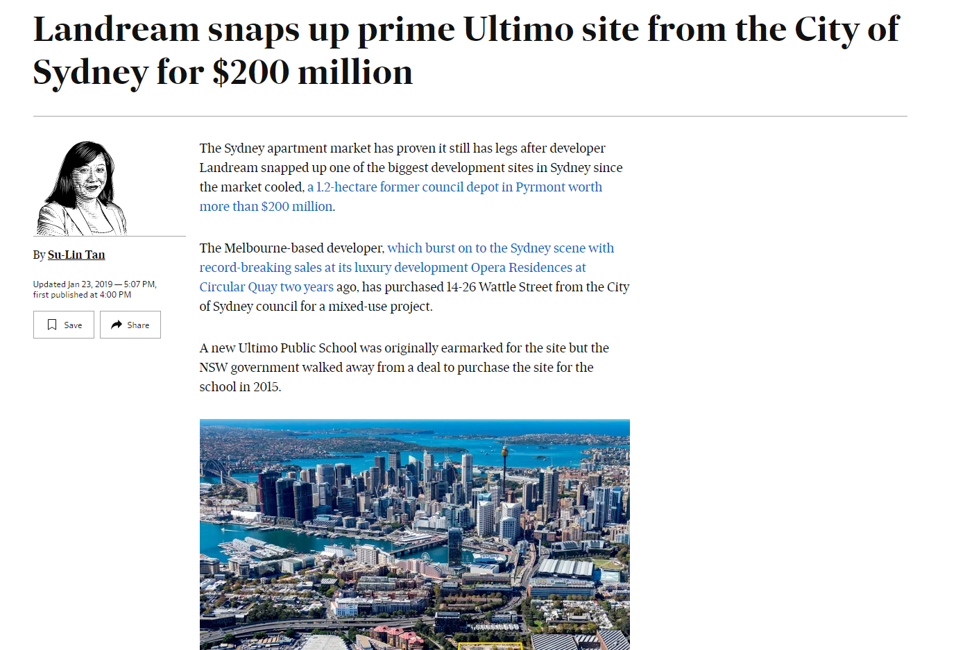 3445a51eca0ed Landream Landream snaps up prime Ultimo site from the City of Sydney ...